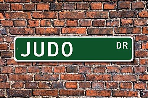Aersing Letrero de yudo con Texto en Inglés Home Decor, Diseño de Abanico y Judo