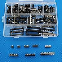 Raogoodcx 110 Pieces 2,54 mm Pitch DIP IC Enchufes Tipo Adaptador Set 6,8,14,16,18,24,28,40 Pin