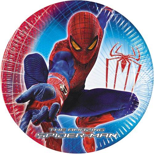 Amscan International - Piatto di carta di Spiderman, Ø 23cm