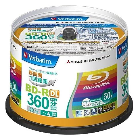 50 Verbatim Double Layer 3d Blu Ray Rohlinge 50 gb Full Printable Bluray (Bd-r Rohlinge)