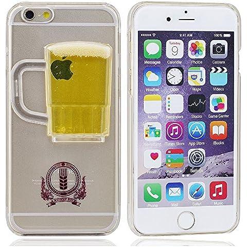 Cubierta Caso Suave Alto Claro Transparente Corriente Copa Cerveza Líquido Funda Carcasa Case Cover para iPhone 6 iPhone 6S 4.7 pulgada (no encajar iPhone6