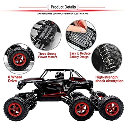 POBO 6WD Off-Road 1/14 Scale 2.4Ghz Electric Rock Climber All-Terrain RTR Buggy …