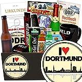 I love Dortmund | Mann Geschenkset | Geschenk Idee | I love Dortmund | Männer Box | Dortmund Geburtstagsüberraschung | INKL DDR Kochbuch