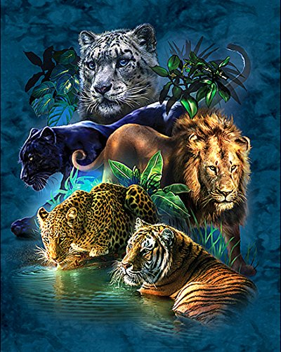 21secret 5D Diamant DIY Malerei Full Bohrer handgefertigt Tiger Löwe Leopard Catamount Home Decor Stickerei Kreuzstich 40x50CM -