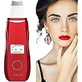 ANLAN Peeling Ultrasónico Facial con 5 Modos, LCD Pantalla, USB Recargable, Equipo de Belleza Facial Multifuncional para Limp