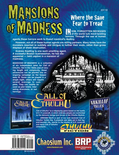 Mansions of Madness: Six Classic Explorations of the Unknown, the Deserted, and the Insane (Call of Cthulhu)