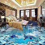 DDBBhome Unterwasserwelt Schnee EIS Outdoor 3D Boden Malerei Rutschfeste Wohnzimmer Schlafzimmer Bad Bodenbelag Mural 250X160 cm