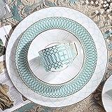 YYHWCFW Servizio Cena Piatti Piatti semplici da Portata con piattino per Tazza da caffè Bone China Set da tavola Piatti di Servizio Set di stoviglie