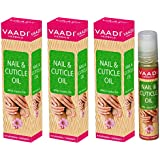 Vaadi Herbals Nail and Cuticle Oil with Jojoba Oil, 10mlx3