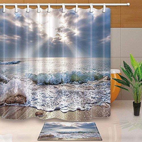 CDHBH Cortina baño diseño olas playa