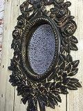 Lisbeth-Dahl-Espejo-de-pared-de-estilo-envejecido-rstico-de-diseo-con-marco-de-madera-50-x-70-cm