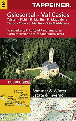 KOKA110 Kombinierte Wanderkarte Welsberg-Gsies (Kombinierte Sommer-Wanderkarten Südtirol)