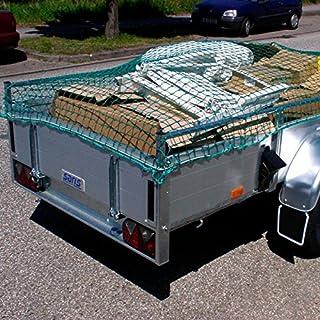 Donet Anhängernetz, Abdecknetz 2,50 x 4,00 m, PP knotenlos 2,3 mm, MW. 30 mm, grün