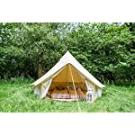 3m Bell Tent with zipped in ground sheet 100% Cotton Canvas Festival Tent Kids Tent Camping Tent Glamping Tent Garden Tent 9