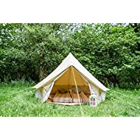 Life Under Canvas 3m Bell Tent with zipped in ground sheet 100% Cotton Canvas Bell Tent for kids play couples festivals or friends Bell Tent for camping Bell Tent for the garden 8