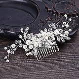 Samidy Bridal Flower Side Hair Clips Pearl Bridal Headpiece Wedding Accessories