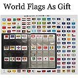 Kit de iniciación a la numismática, coleccionismo de monedas, álbum de cuero para almacenamiento, con solapas de banderas, marcador de bandera del mundo marcador como regalo