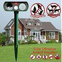 Repelente ultrasónico Pest Repeller Solar/ultrasónico para animales gato, perro, zorro