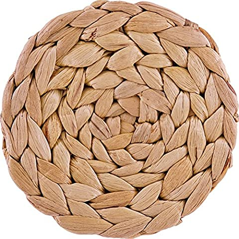 Creative Tops Natural Water Hyacinth Weave Coasters by Creative Tops,