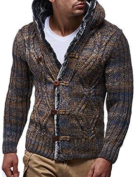 [Sponsorizzato]LEIF NELSON LN20539N - Maglione con cappuccio, da uomo