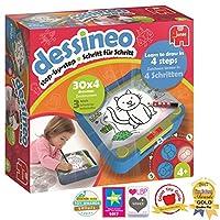 Jumbo-Spiele-19573-Dessineo-Zeichnen-Spiel Jumbo 19573 Dessineo Zeichnen Lernen, Zeichenspiel, 300 x 315 x 90 -