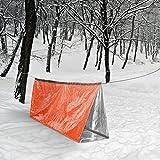 Rettungsdecke, Terra Hiker Wiederverwendbar Notfall Bag, Wasserdicht Survival Folie, Rettungsfolie, Erste Hilfe Decke, Orange -