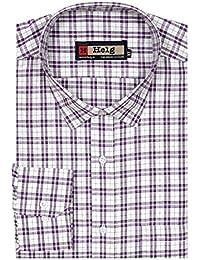 Helg Mens Formal Cotton Checks Full Sleeves Comfort Fit Shirt
