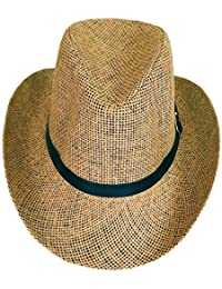 205a4970c3b33 SYNC WITH STYLE Sombrero Vaquero De Paja Unisex para Hombres Y Mujeres