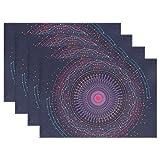 MUMIMI Big Daten Fractal Element Visualisierung Platzdeckchen hitzebeständig Esstisch Mats Rutschfest Waschbar Tischset 1Stück, Mehrfarbig, 12x18inch