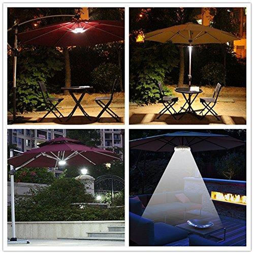 Sonnenschirm LED Light 3 Level Dimmbar 24 LED Pure Weiß Camping Zelte Terrasse  Regenschirm Pole Beleuchtung Oder Hängen überall Befestigt Für Garten  Outdoor ...