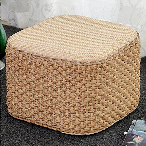 Handgewebte natürliche Wasserhyazinthe Gras Tee Hocker kreative Boden Kissen kann gereinigt werden keine Verformung 30*30*26cm