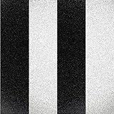 Fine Decor Glitz Streifen schwarz-weiss & silber Glitzer–Strukturierte Tapete dl40860