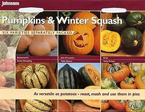 Johnsons Seeds - Pictorial Pack - Vegetable - Pumpkin &