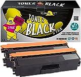 Yellow Yeti 2 Pack TN325BK TN-325 BK Noir 4000 Pages Cartouches de Toner compatibles pour Brother HL-4140CN HL-4150CDN HL-4570CDW DCP-9055CDN DCP-9270CDN MFC-9460CDN MFC-9465CDN [Garantie de 3 Ans]