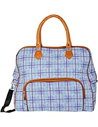 Shopigator Luggage Travel Duffle Or Multi Purpose Utility Printed Bag, Designer Print Bag For Women (Blue)(17...