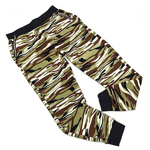 Plus Size Camouflage Hose Für Damen bei Ital-Design Grün