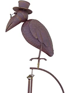 Windspiel  Wippe Gartenstecker Gartendeko Metall Figur Rabe XXL