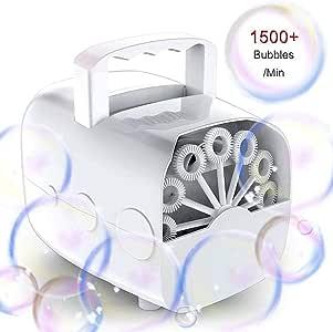 Compleanni e Palcoscenici Macchina per Bolle di Sapone Macchina per Bolle Elettrica Portatile Macchina per Bolle di Sapone Professionale con USB Argento Per matrimoni