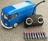 RC ferngesteuert VW Bulli 1962 T1 - 1:18 RTR , komplett-Set , Licht inkl. Fernsteuerung - DER Klassiker ! Bus oder Transporter, Farbe wählbar. (Transporter - BLAU)