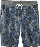 LIVERGY Herren Sweat-Bermudas ++ Plussize ++ (grau blau Gemustert, Gr. 4XL 68/70)