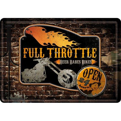 cartolina metalla 10 x 14 cm - Full Throttle - Throttle Interno
