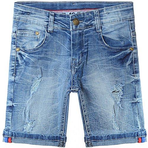 910633df75e7d6 BEZLIT Jungen Jeans Shorts Riss-Akzente Capri Kurze Hose 22038 Größe 104