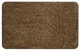Fußmatte Größe Farbe wählbar, Türvorleger Bodenmatte Schmutzfangmatte Fußabtreter (40 x 60 cm Braun)