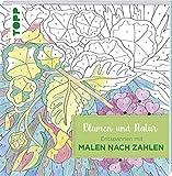 NEU Buch Malen nach Zahlen Blumen und Natur
