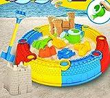 MEI Strandspielzeug Kinder Strand Burg Spielzeug Set Eimer Baby Spielen Sand Bagger Trichter Große Schaufel