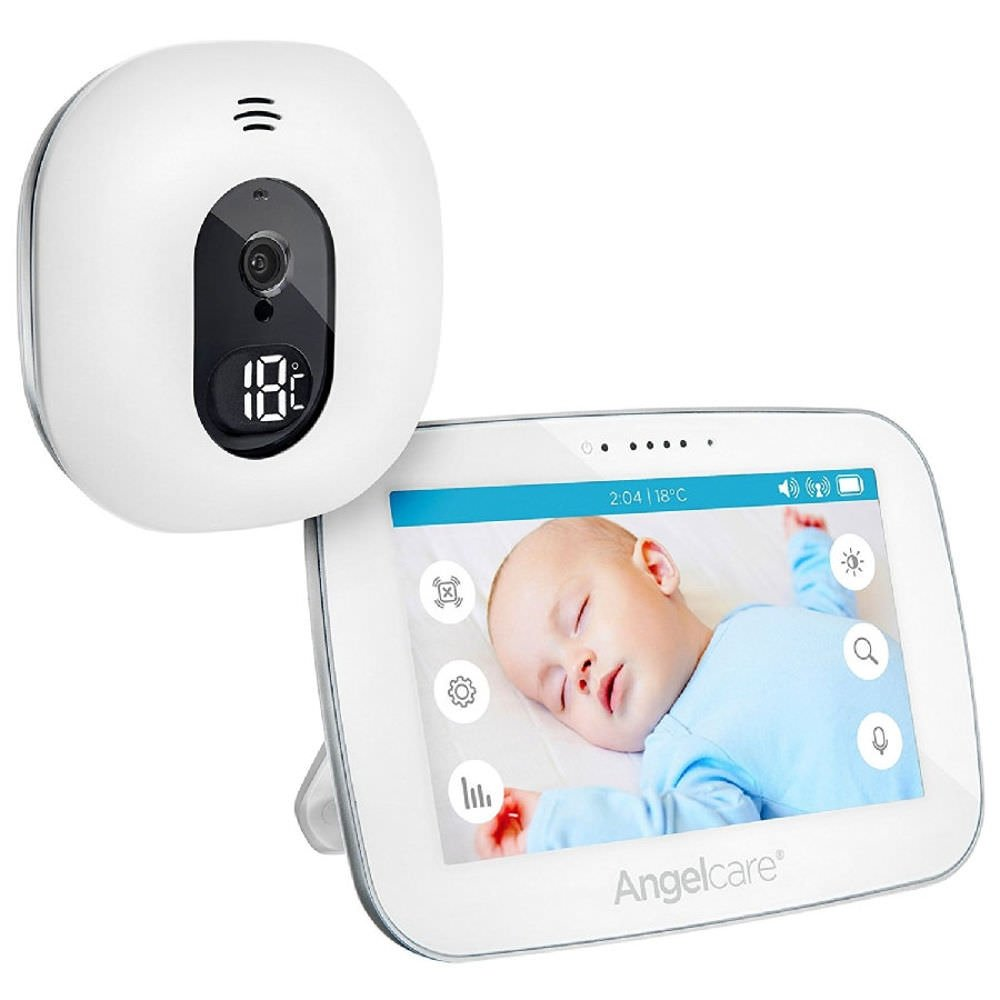Angelcare AC510-D Video Babyphone mit Video-Überwachung, 5 Zoll Display, weiß