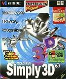 Simply 3D 3/dt. CD NT95 zur Erstellung von 3D-Texten u. Grafiken