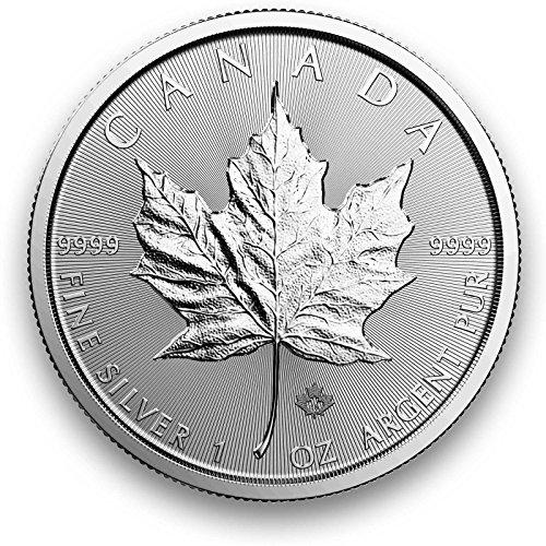 25 monedas canadienses de 1 oz de plata Maple Leaf