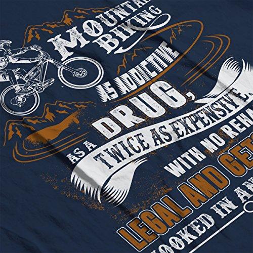 Mountain Biking Is As Addictive As A Drug Men's Vest Navy Blue