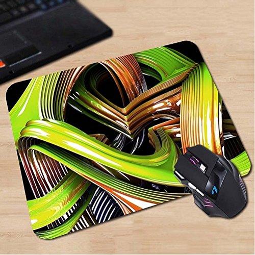 Preisvergleich Produktbild Grüne und rote Schlingen oder Streifen Kunst & Design Mauspad Anti-Rutsch, Wasserfest 220x180 Veredeln Sie Ihren Schreibtisch mit diesem eleganten Mauspad